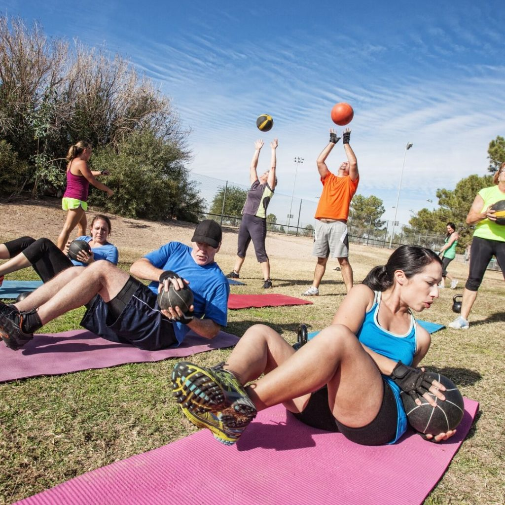 Outdoor boot camp northern beaches